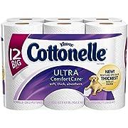 Cottonelle Ultra Comfort Care Toilet Paper, Big Roll, 12 Rolls, Packs of 4 (48 Rolls)