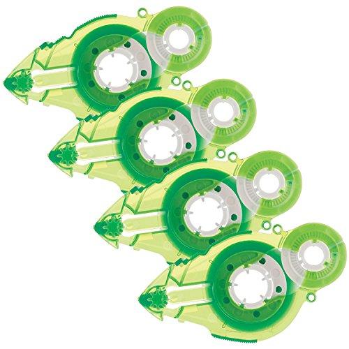 Plus Corporation Glue Tape Tg-611Bc-Ve - Vellum Adhesive, Refill 4-Pack (60392)