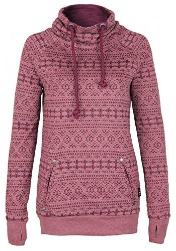 Sublevel Damen Sweatshirt | Hoodie Top Qualität kuschelig sportlich stylisch, Größe:XS, Farbe:Dark Rose