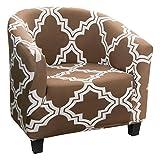 Cysincos Sesselschoner, Sesselüberwurf, Sesselbezug mit schönem Muster, Sesselhusse, Elastisch Stretch Sesselbezug für Clubsessel Loungesessel(Bunt-D)