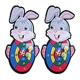 Caiqinlen Placa de Dardos, Tablero de Dardos pequeño y portátil, bebé de la institución educativa para la educación en el hogar(Rabbit Sticky Target)