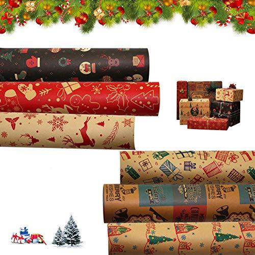 Sunshine smile Carta Regalo,Carta di Natale,Carta da Regalo Natalizia,Rotolo Carta Regalo,Rotolo Regalo,Carta da Regalo di Babbo Natale,Carta da Regalo Natalizia,Carta imballaggio