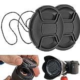 Tapa para Lente de cámara, diámetro Ø 49 mm, Tapa de protección Snap On, Compatible con Nikon, Canon, Sony, Sigma, Tamron, Olympus, Fujifilm, Cobertura Universal para cámara, Tapa Protectora Lente