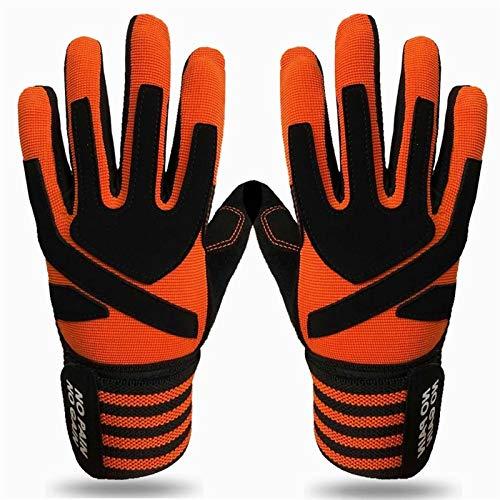 XIAOQBH Guantes de fitness para hombres y mujeres transpirables guantes de fitness par levantamiento de pesas muñeca cinturón de apoyo de gimnasio deportes pesado culturismo entrenamiento guantes