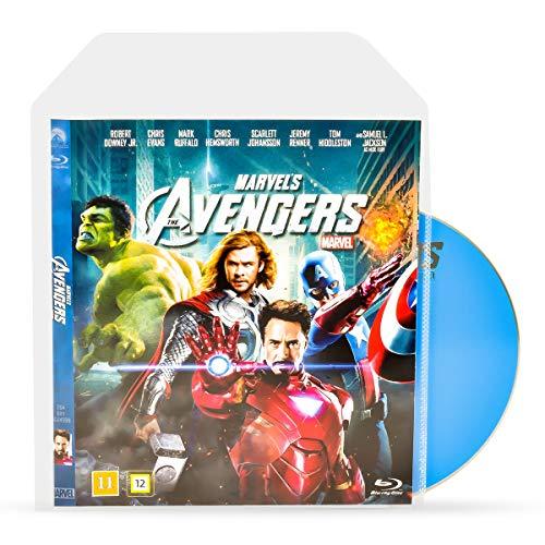 3L Blu-Ray Hüllen für Blu Ray Aufbewahrung – Hülle hat Platz für Cover inkl. praktischer Verschlussklappe - 50 Stück - 10283