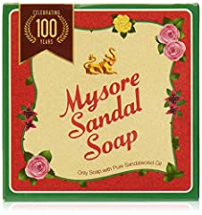Mysore Sandal soap is one of the most popular soaps in India The only soap made with pure sandalwood oil Sandalwood is recommended in ancient Ayurvedic texts for natural skin care Suitable for everyday use