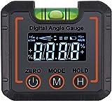 Sasonco - Nivel de burbuja digital de precisión, medidor de inclinación, resistente al agua, medidor de nivel de burbuja digital magnético con Incluye funda para cinturón.