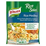 Knorr Rice Sides Rice Medley (5.6oz) is a rice & pasta blend side dish that enhances meals with amazing flavor. Rice Medley Rice Sides expertly combines rice, pasta, peas and carrots for a savory dish No artificial flavors. Quick and easy to prepare ...