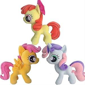 Detazhi 30cm 3pcs/Set Plush Toy Apple Bloom Scootaloo Sweetie Belle Plush Horse Action Toy Figures