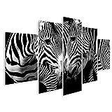 Islandburner cuadro en lienzo cebras enamoradas en blanco y negro cuadros modernos decoracion impresión salon