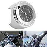 Reloj de motocicleta Reloj de dial de motocicleta de alta dureza para manillares de motocicleta de 22-25 mm(black)