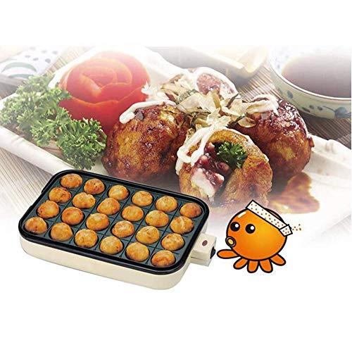 Niet Sticktakoyaki make grill en bakplaat koekenpan bakplaat Takoyaki Maker, 24 holes,Yellow