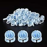 MEKK Glue Rings Disposable Rings For Lashes 100PCS Disposable Glue Rings Smart Glue Rings Disposable Glue Cups Lash Glue Rings Fanning Blossom Cups For Eyelash Extension Plastic Volume Glue Cups(Blue)