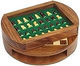 SJZLMB Tablero de ajedrez Diseño de cajones de ajedrez magnético fácil de Guardar Piezas de ajedrez Conjunto de ajedrez de Madera ajedrez Adulto Entretenimiento al Aire Libre Juego de Mesa