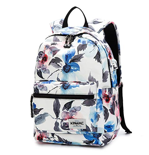 Kinmac Watercolor Pattern 15 inch Waterproof Laptop Travel Outdoor Backpack with USB Charging Port for 13 inch 14 inch and 15.6 inch Laptop