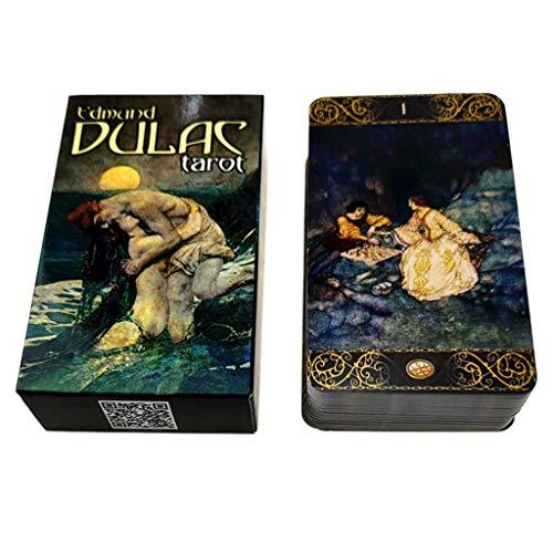 S-TROUBLE Edmund Dulac Tarots Cards Full English 78-Card Deck Oracle Party Adivinación Destino Juego de Mesa