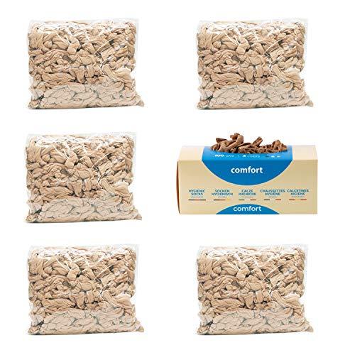 Pedsox Refill 500 pz Calze Igieniche Comfort Monouso per prova calzature (Nudo)