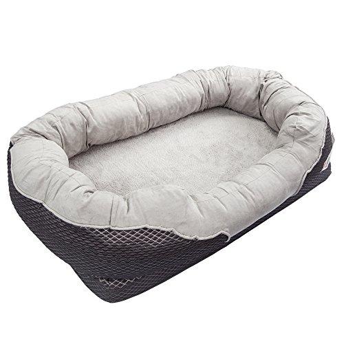 BarksBar Gray Orthopedic Dog Bed