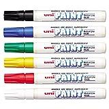 Sanford 63630 Uni-Paint Oil Based Marker, Medium Point, Assorted Inks, 6/Set