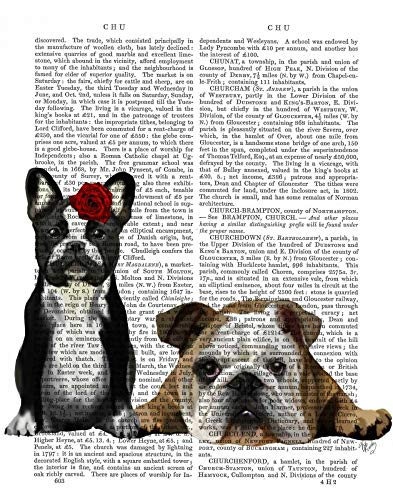 Feeling at home CANVAS-FRAMED-with-AMERICAN-BOX-French-Bulldog-and-English-Bulldog-Animals-wall-decore-on-wood-frame-Vertical-27x21_in