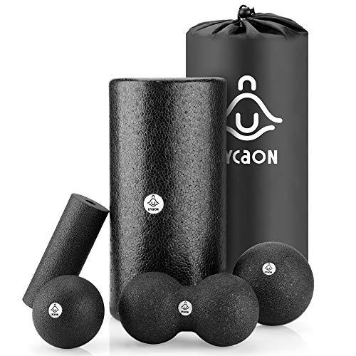 LYCAON Rodillo de Espuma 6Pcs para la recuperación Muscular del Tejido Profundo/Liberación miofascial/Pilates/Yoga/Crossfit/Fitness