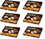 Matilde Vicenzi Grisbi Snack Arroz con Riso Soffiato Galletas con crema de leche cubierta con chocolate y arroz hinchado, 120 g (4 x 30 g)