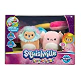Squishville by Squishmallows SQM0071 Room Set, 2-2 Mini-Squishmallow and 1 Plush Accessory, Marshmallow-Soft Animals, Playground Toys,
