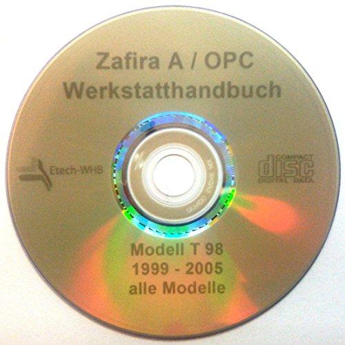E-Tech REPARATURANLEITUNG/WERKSTATTHANDBUCH (CD) OPEL Zafira A