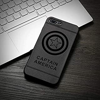 04848588d4a Desconocido Funda para iPhone XS MAX, Silicona Superheroes Batman Iron Man  Superman Capitan America Marvel