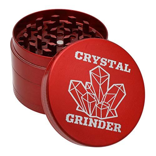 """4 Piece 2"""" Grinder The Best Premium Advanced Herb Spice Grinder With Pollen Catcher - Ruby Red"""