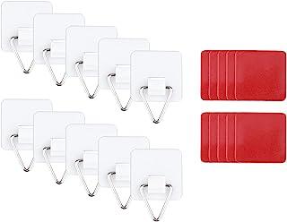 Generic 10個不可視の接着剤プレートハンガーセット垂直プレートホルダーウォール皿フックポータブル自己接着壁プレートホルダー