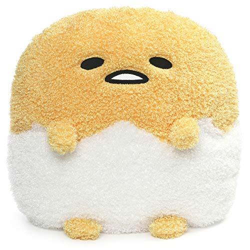 "GUND Sanrio Gudetama Deluxe Egg in Shell Lazy Egg Plush Stuffed Animal, Yellow, 17"""