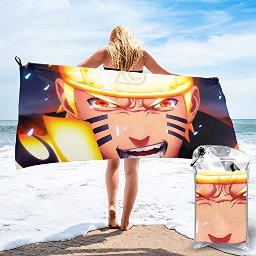 ZEGAILIAN Toalla de playa N-Aruto Uzumaki absorbente resistente a la decoloración toalla de secado rápido