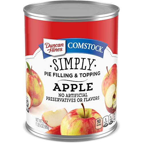Duncan Hines Comstock Simply Pie Filling, Apple, 21 Ounce (Pack of 8)