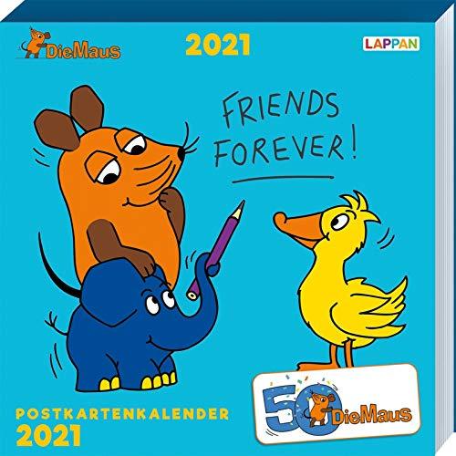 Der Kalender mit der Maus - Postkartenkalender 2021