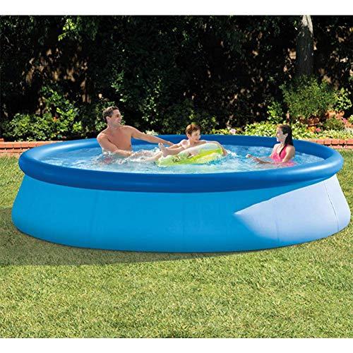 BIYLL Aufblasbar Schwimmbecken 244x76 cm Quick-Up Swimming Pool Fast-Set Schwimmbad Kinder und Familien Schwimmbecken Schwimmbad für Garten und Terasse