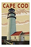Cape Cod, Massachusetts - Lighthouse (Premium 500 Piece Jigsaw Puzzle for Adults, 13x19)
