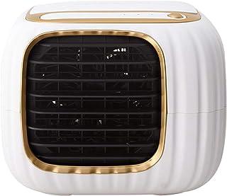 YQQWN Aire Acondicionado portátil Espacial, Enfriador de Aire Personal USB - Mini Aire Acondicionado 3 en 1, Ventilador de sobremesa con 3 velocidades Ajustables