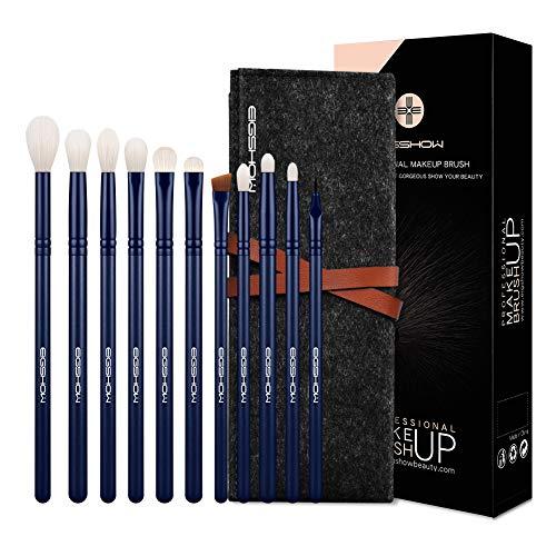 EIGSHOW conjuntos de sombra de ojos cepillo, 11pcs esenciales vegan pinceles de maquillaje sets, artesanía de calidad de los ojos de pinceles de maquillaje incluye la mezcla de cepillo, brocha