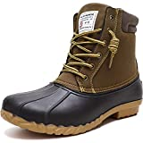 ALEADER Duck Boots Men Insulated Waterproof Winter Boots Cold Weather Snow Boots Tan 12 US
