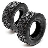 Set 2x cubiertas ruedas tractor cortacésped 13x5.00-6 Ruedas segadora jardín Accesorios...
