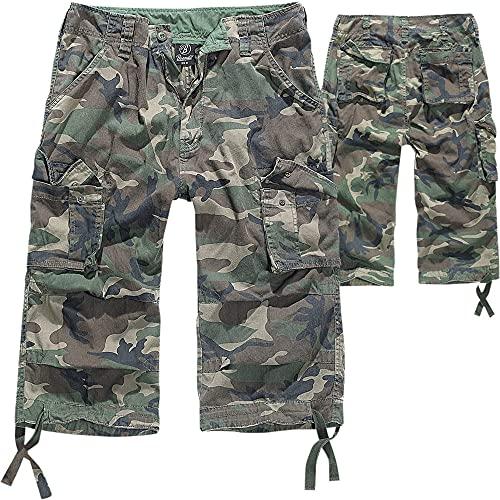 Brandit 3/4 Shorts URBAN Legend Kurze Hose Cargo Vintage Short BW Army Bermuda, Größe:XL, Farbe:Woodland