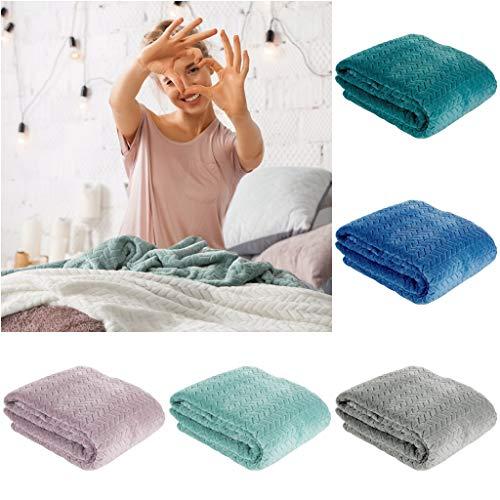Design91 filt, mysig filt Cindy, mycket mjuk och fluffig, bostadstäcka, filtfilt, mikrofiber, plast, silver, 150 x 200 cm