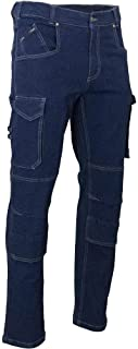 LMA Jeans Bleu Baril Multipoches en Denim Stretch
