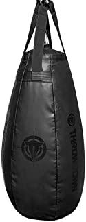 Throwdown Filled Boxing/Kicking Heavy Teardrop and Punching Bag-Muay Thai and MMA Punching and Kicking Bag-Home Gym Equipm...