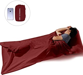 XWetter Sleep Bag Liner Mummy, Polyester Sleep Bag Liner, Outerdoor Camping Sheet,Rectangular with Pillow Pocket, Skin Friendly, Adult Stuff Sack, Traveling,&Hotels