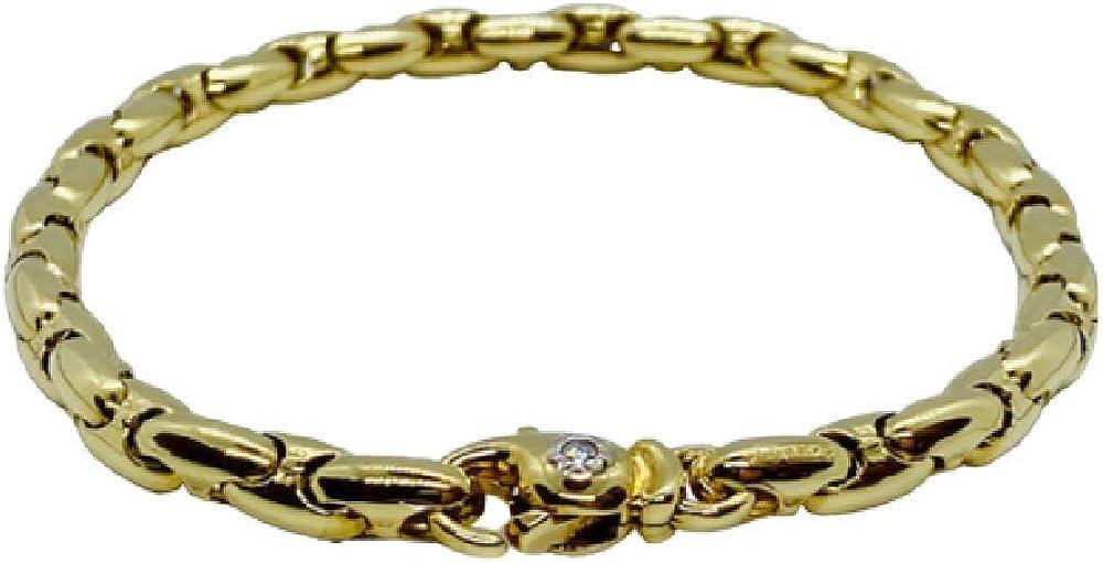 Chimento ,bracciale unisex  in oro giallo 18 ky(14,70 gr)con incastonato un diamantino 0,03 ct