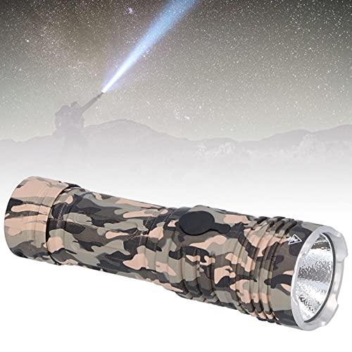 FECAMOS La Linterna de 4200 LM, Ip68 y la Linterna Recargable USB se Pueden Cargar para Uso y Ayuda de Buceo con iluminación