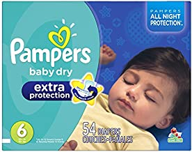 Pampers Baby Dry Extra Protection Diapers Size 6, 54 Count