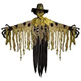 """Tekky Toys Flaming Scarecrow, Animatronic Halloween Decoration, Indoor or Covered Outdoor Decor, 51"""" x 92"""""""